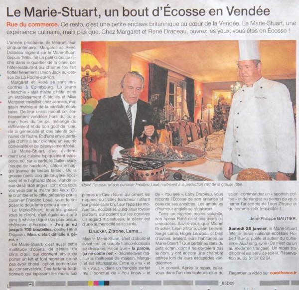 Mariestuart Ouest France 25 26 janvier 2014