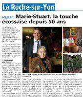 Hotel restaurant de la Roche sur Yon le MarieStuart dans la Presse